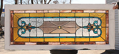 1890s Architectural Antique Aesthetic Victorian Stained Glass Window