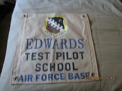 1950's - 1960's Edwards Air Force Base Test Pilot School   Wall Flag