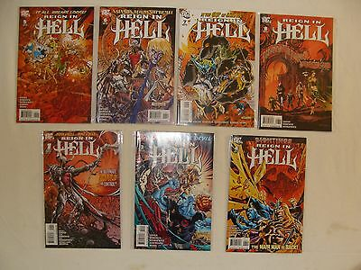 Lot Of 7 Reign In Hell 1 3 4 5 6 7 8 - Dr Fate, Blue Devil - Near Mint
