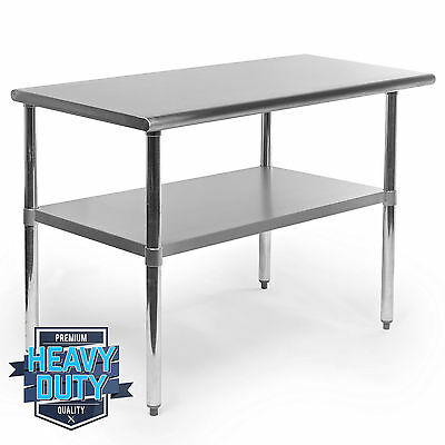 "Kitchen Food Prep Table Stainless Steel Work Commercial Sandwich Garage -24""x48"""
