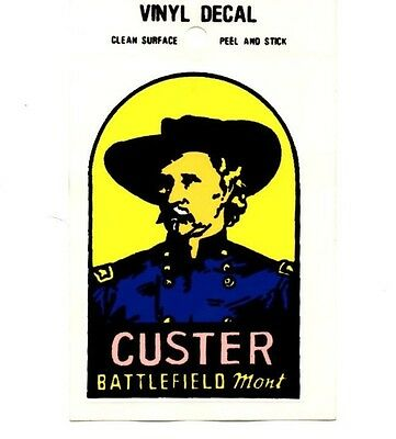 Lot of 12 Custer Battlefield Souvenir Luggage Decals Stickers - New - Free S&H