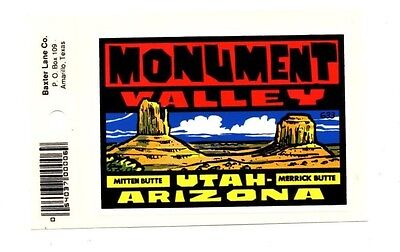 Lot of 12 Monument Valley Utah Arizona Luggage Decals Stickers - New - Free S&H