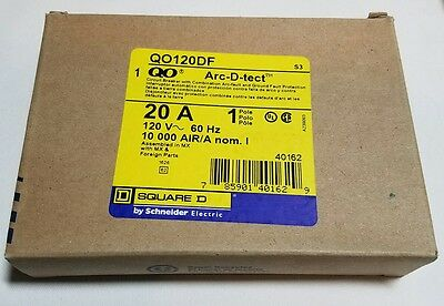 Lot of 15  SQUARE D QO120DF  20 Amp 120 Volt  Dual Function Arc and Ground Fault
