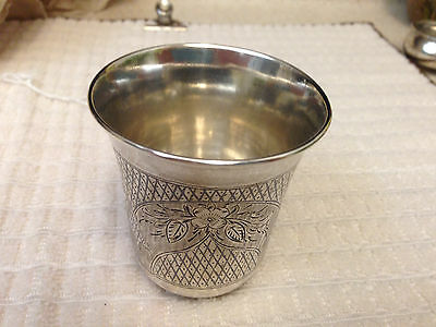 Antique 1870 Russian .84 Sterling Silver Beaker Nice With Markings