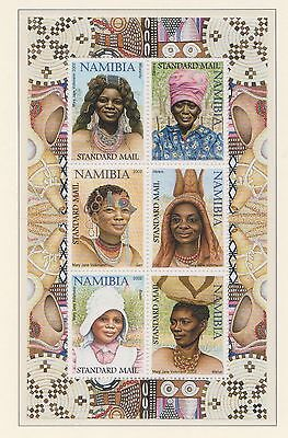 (SWB-79) 2001 Namibia M/S traditional head dresses for females (AB) MUH