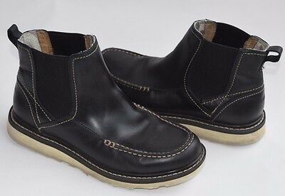 RED WING Black Leather Casual Elastic Goring Slip On Ankle Boots 4598 Womens 6 M