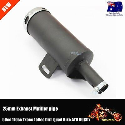 25mm Exhaust Muffler 70cc 90cc 110cc 125cc 140c PIT Trail Quad Dirt Pit Bike ATV