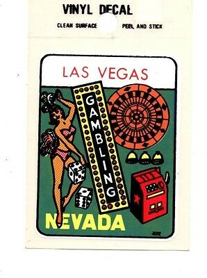 "Lot of 12 Las Vegas Nevada ""Gambling"" Luggage Decals Stickers - New - Free S&H"
