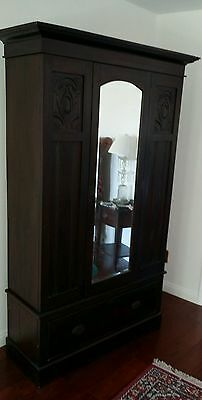Armoire with Mirror and Drawer