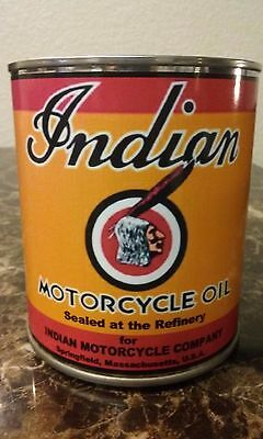 Vintage Indian Motorcycle Oil Can 1 qt. ( Stashcan ) Reproduction oil can