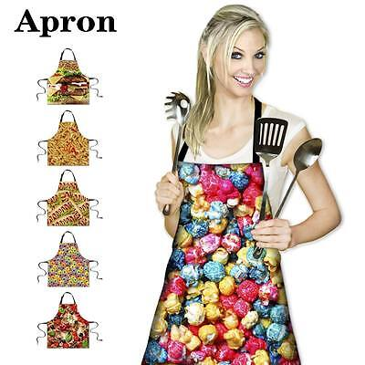 Food Cooking Kitchen Restaurant Bib Apron Dress Women Men Personalized BBQ Apron