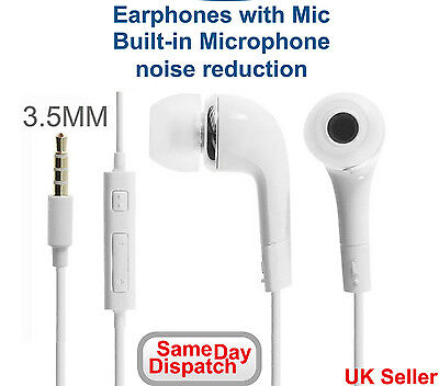 Earphones Earbud Handsfree Headphones with Mic for Samsung S3 S4 S5 S6 Note Edge