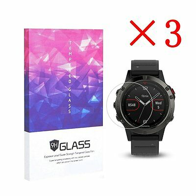 For Garmin Fenix 5 Tempered Glass Screen Protector 9H Hardness (3 Packs)