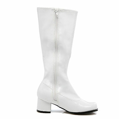 Dora White Child Girls Boots Shoes for Costume Fancy Dress 60s 70s Retro Hippy,