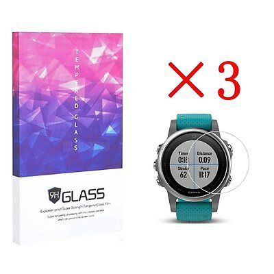 For Garmin Fenix 5S Tempered Glass Screen Protector 9H Hardness (3 Packs)
