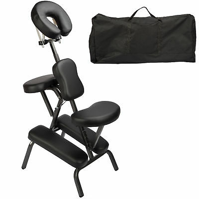 Foldable Portable Massage Chair - Black