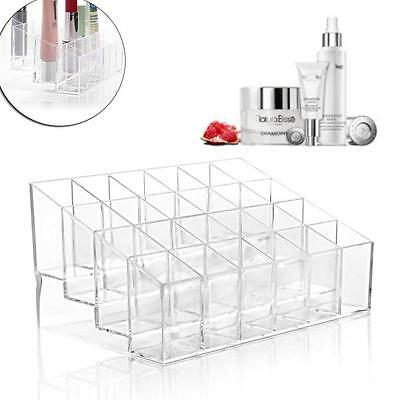 Acrylic 24 Lipstick Holder Organizer Transparent Cosmetic Case Storaging Box GU
