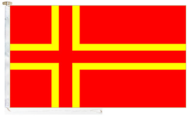 France Cross of Normandy (Mouvement Normand) Roped & Toggled 2 Yard Boat Flag