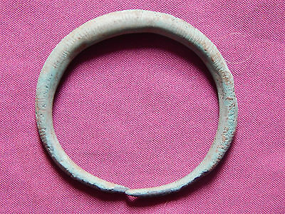 Bronze Age ,Piliny culture , Bronze Bracelet with Ornament, 12-9 CBC