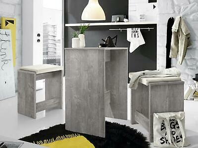 k chentisch mit regal und 2 st hlen klappbar bar holz. Black Bedroom Furniture Sets. Home Design Ideas