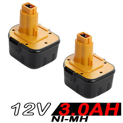 2x12V 3.0AH Battery For Dewalt DE9074 DE9075 152250-27 397745-01 DC9071 DW927K2