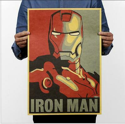 2017 Iron Man Poster Comic Marvel Heroes Movie Room Decor Poster