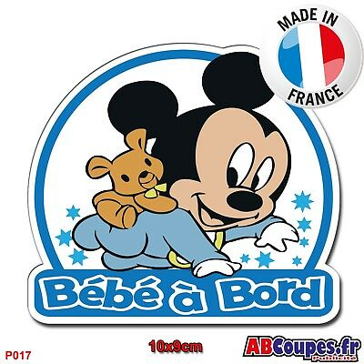 Stickers Jumeaux à bord Mickey GG
