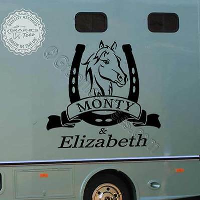 Horse Box Stickers Custom Vinyl Graphic Decals Personalised Horse Sticker