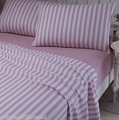 100% Cotton Sheet Set PINK DOUBLE INCLUDES 2 pillowcases,1 flat,1 fitted sheet