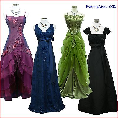 Cherlone Satin Ball Long Gown Lace Formal Prom Wedding/Evening Bridesmaid Dress