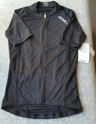 2XU Mens Active Cycle Jersey Medium Black MC2295a BRAND NEW with tags