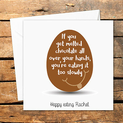 Personalised Handmade Happy Easter Card Grandson Granddaughter Son Daughter Choc