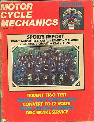 M/CYCLE MECHANICS magazine 7/75 feat. moped test, Commando, Gold Wing, Trident