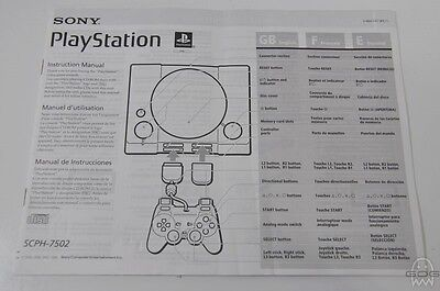 CONSOLE MANUAL - UK & EU - SCPH-7502 - PlayStation - PS1 - Sony.