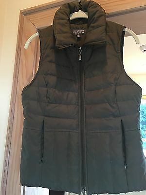 Womens Kenneth Cole Reaction Puffer Vest size Small  Olive Green