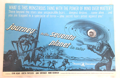 Vintage 1962 Journey To The Seventh Planet Orig Movie Campaign Book Pressbook