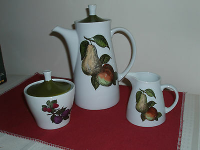 Porcelain 3PC Coffee Server with Creamer & Sugar Bowl