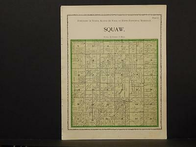 Iowa Warren County Map White Squaw Township 1902  W2#28
