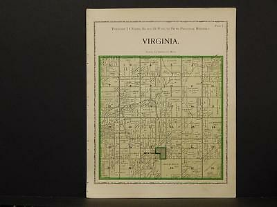 Iowa Warren County Map White Virginia Township 1902  W2#29