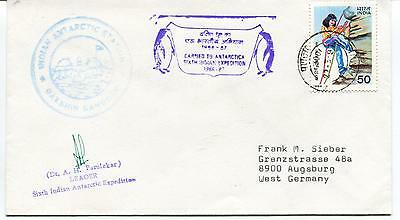 1987 Sixt Indian Antarctic Expedition Dr Dhargalkar Polar Antarctic Cover SIGNED