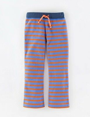 NWT Mini Boden Girls Sweatpants Striped Orange Blue Stripes Size 9