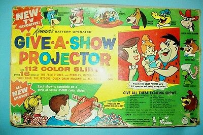 Complete 1963 Give-A-Show Set - All Hanna-Barbera Shows & Working Projector