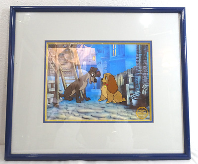 """Walt Disney Limited Edition """"lady And The Tramp"""" Serigraph Cel"""