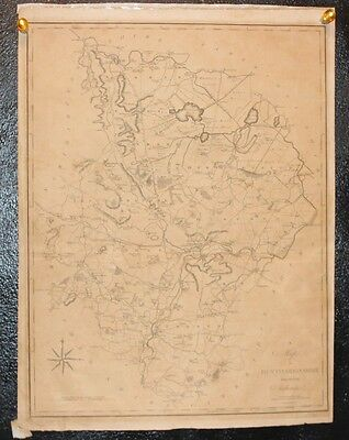 Antique map of Huntingdonshire by John Stockdale Piccadilly 1805 J. Cary