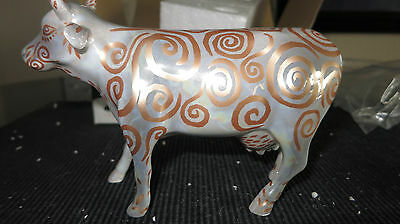 Cow Parade 2002  METALLICOW COW FIGURINE #7306 New in Box with Tag, Retired