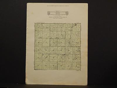 Minnesota Swift County Map Hayes Township 1931 Y6#62