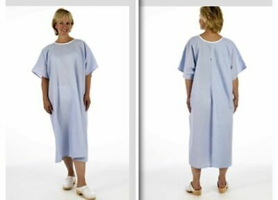 Pullover Blue Examination X-ray NHS hospital gown open back no ties/fastenings