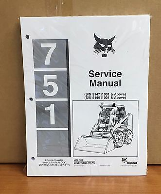 Bobcat 751 Skid Steer Loader Service Manual Shop Repair Book 6724925