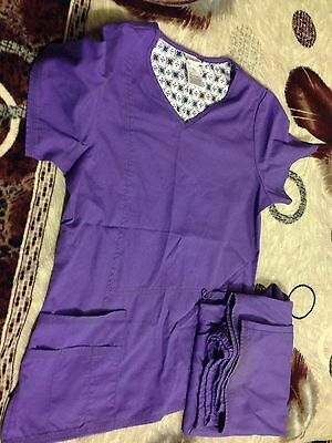 Women's Scrub Star Matching Purple Scrub Set Size XS/XCH