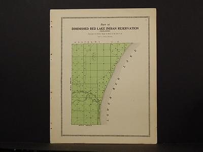 Minnesota Clear Water County Map Red Lake Indian Reservation 1912  Y6#95